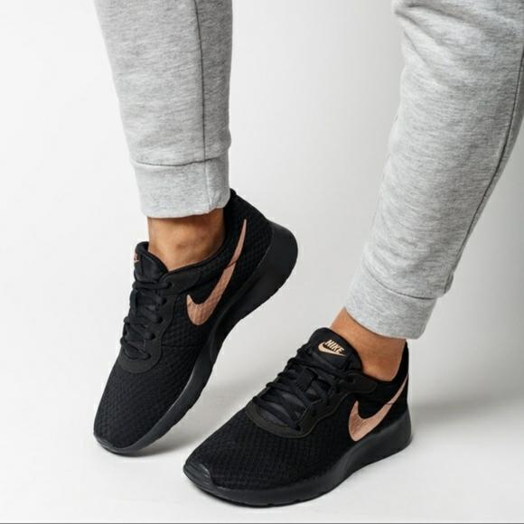 Nike Shoes | Black And Gold Tanjun
